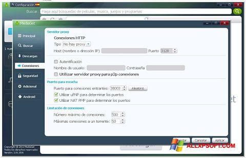 Ekran görüntüsü MediaGet Windows XP