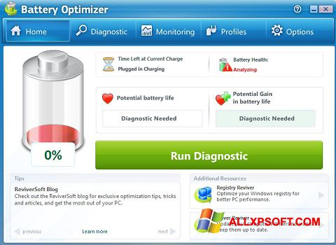 Ekran görüntüsü Battery Optimizer Windows XP