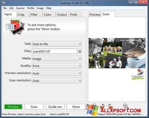 Ekran görüntüsü VueScan Windows XP