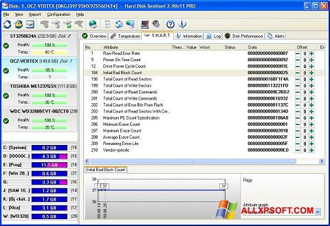 Ekran görüntüsü Hard Disk Sentinel Windows XP