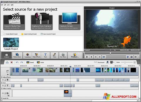 Ekran görüntüsü AVS Video Editor Windows XP