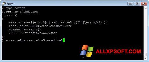 Ekran görüntüsü PuTTY Windows XP