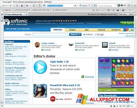 Ekran görüntüsü Lunascape Windows XP