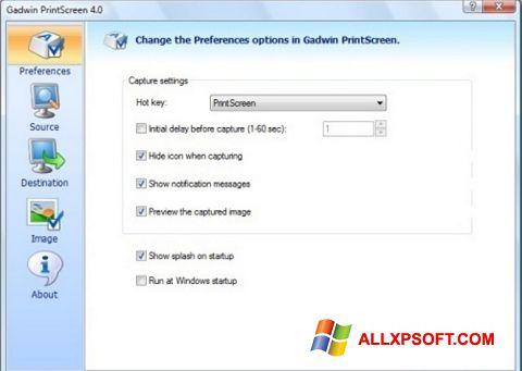 Ekran görüntüsü Gadwin PrintScreen Windows XP