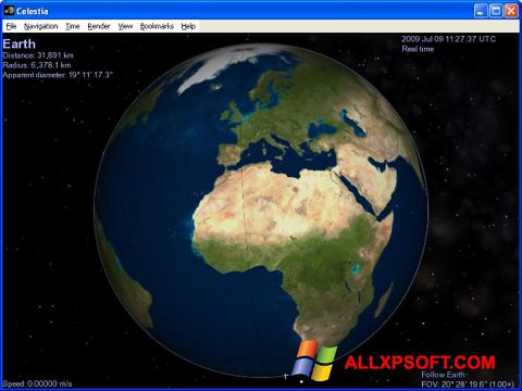 Ekran görüntüsü Celestia Windows XP