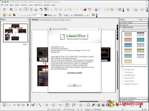 Ekran görüntüsü LibreOffice Windows XP