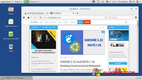 Ekran görüntüsü Tor Browser Windows XP