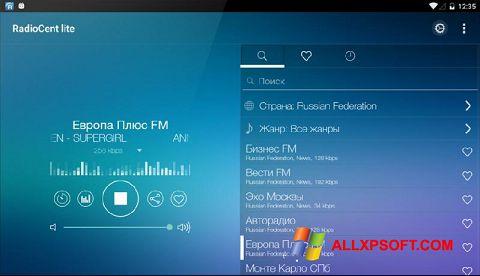 Ekran görüntüsü Radiocent Windows XP
