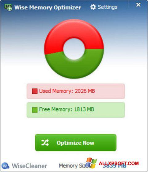 Ekran görüntüsü Wise Memory Optimizer Windows XP