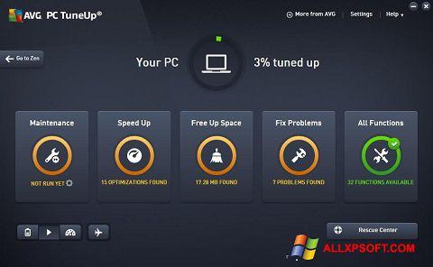 Ekran görüntüsü AVG PC Tuneup Windows XP
