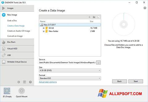 Ekran görüntüsü DAEMON Tools Lite Windows XP