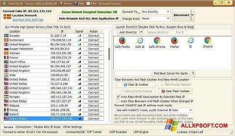 Ekran görüntüsü Hide ALL IP Windows XP