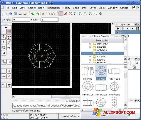 Ekran görüntüsü QCad Windows XP