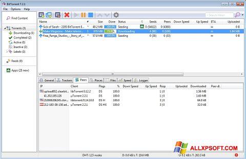 Ekran görüntüsü BitTorrent Windows XP