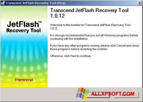 Ekran görüntüsü JetFlash Recovery Tool Windows XP