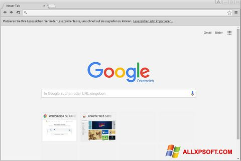 Ekran görüntüsü Google Chrome Windows XP