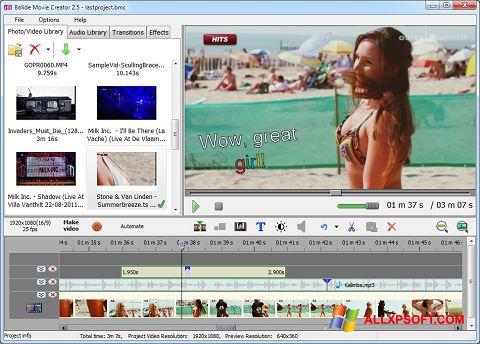 Ekran görüntüsü Bolide Movie Creator Windows XP