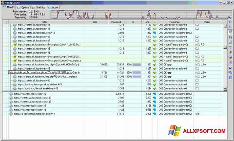 Ekran görüntüsü HandyCache Windows XP