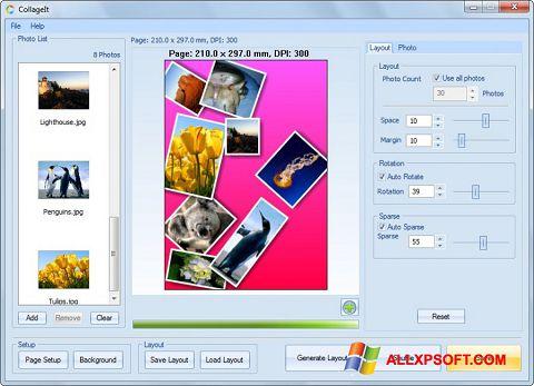 Ekran görüntüsü CollageIt Windows XP