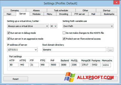 Ekran görüntüsü Open Server Windows XP