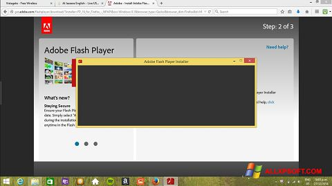 Ekran görüntüsü Adobe Flash Player Windows XP