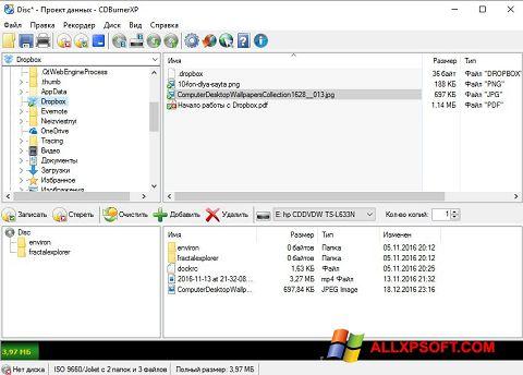 Ekran görüntüsü CDBurnerXP Windows XP