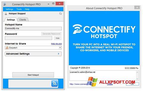 Ekran görüntüsü Connectify Hotspot PRO Windows XP