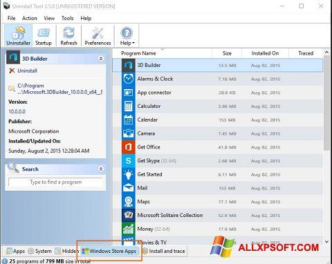 Ekran görüntüsü Uninstall Tool Windows XP