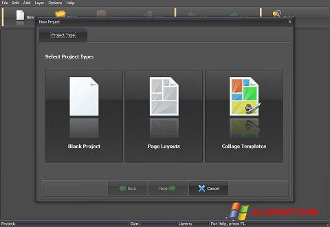 Ekran görüntüsü PhotoMix Collage Windows XP