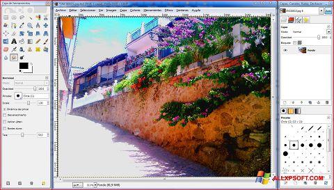 Ekran görüntüsü GIMP Windows XP