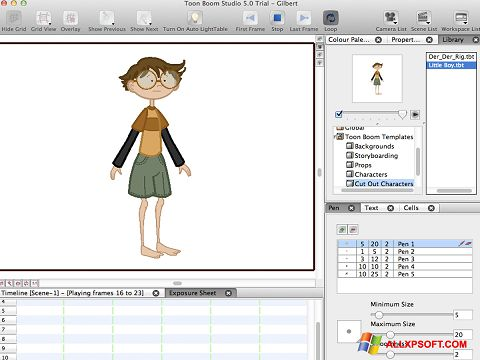Ekran görüntüsü Toon Boom Studio Windows XP