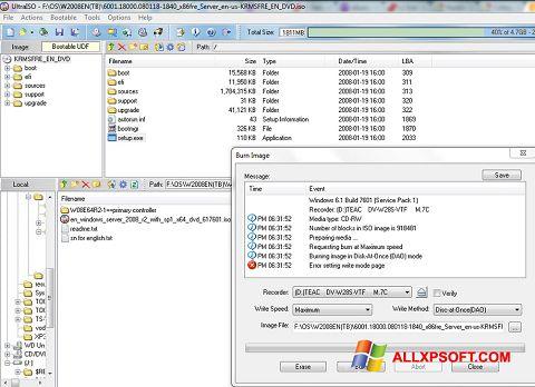 Ekran görüntüsü UltraISO Windows XP
