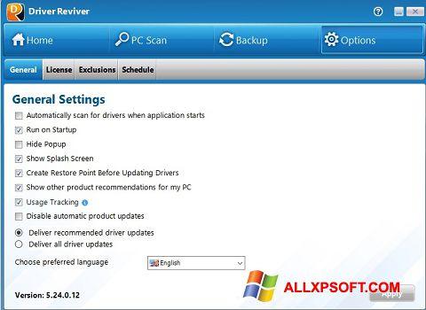 Ekran görüntüsü Driver Reviver Windows XP