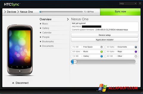 Ekran görüntüsü HTC Sync Windows XP