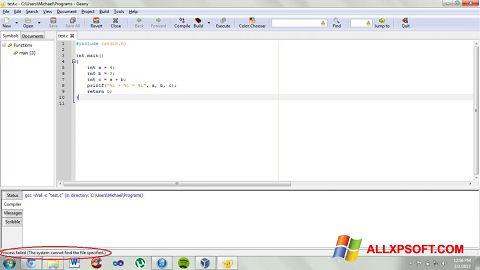 Ekran görüntüsü Geany Windows XP