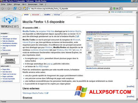 Ekran görüntüsü Mozilla Firefox Windows XP
