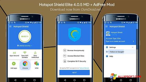 Ekran görüntüsü Hotspot Shield Windows XP