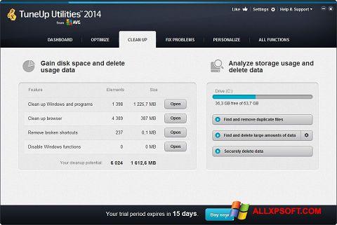 Ekran görüntüsü TuneUp Utilities Windows XP