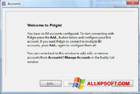 Ekran görüntüsü Pidgin Windows XP