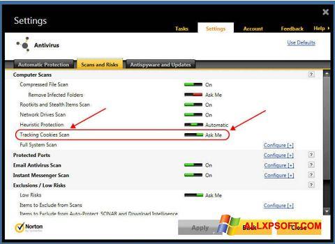 Ekran görüntüsü Norton Windows XP