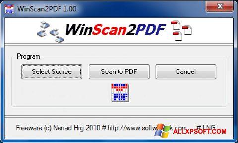 Ekran görüntüsü WinScan2PDF Windows XP