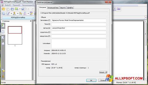 Ekran görüntüsü Foxit Phantom Windows XP