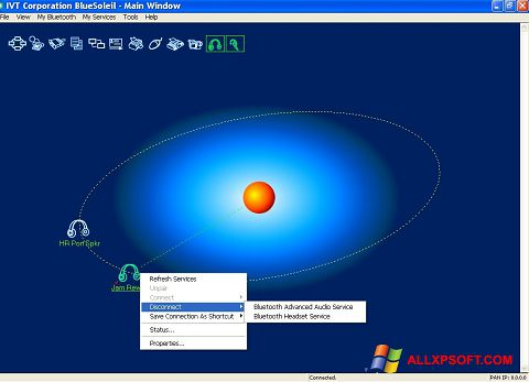Ekran görüntüsü BlueSoleil Windows XP