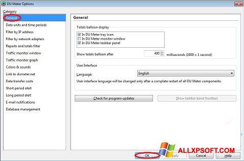 Ekran görüntüsü DU Meter Windows XP