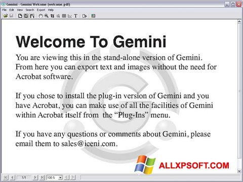 Ekran görüntüsü Gemini Windows XP