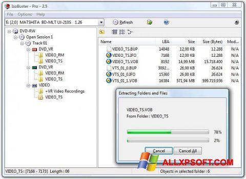 Ekran görüntüsü IsoBuster Windows XP