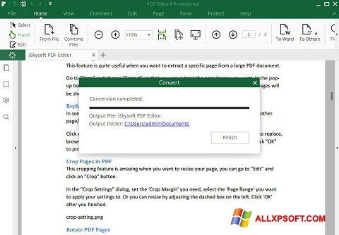 Ekran görüntüsü PDF Editor Windows XP