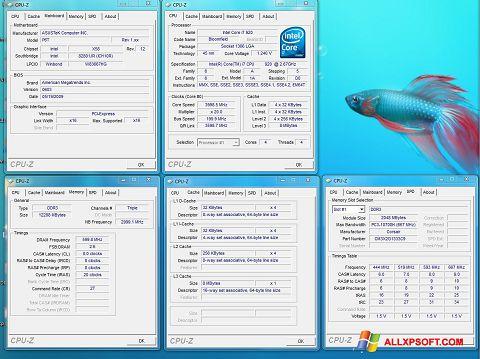 Ekran görüntüsü CPU-Z Windows XP