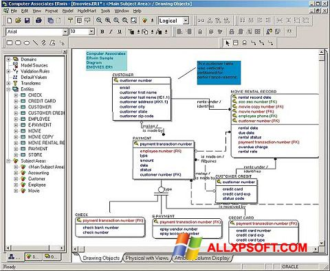 Ekran görüntüsü ERWin Windows XP