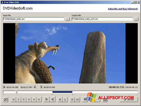 Ekran görüntüsü Free Video Dub Windows XP